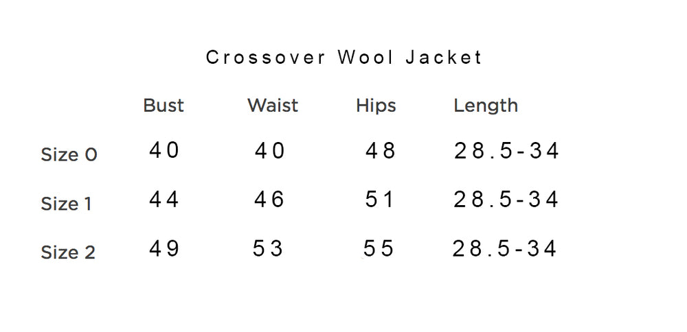 Crossover Wool Jacket