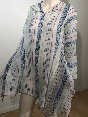 Hand Block Printed Mosaic Flying Tunic