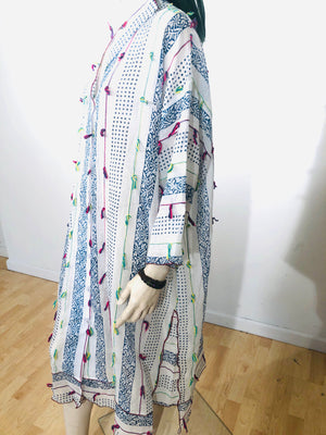 Hand Block-Printed Mosaic Bella Dress