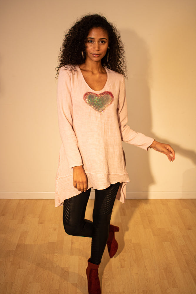 Heart Tunic (Cropped and Fingertip)