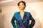 Handmade Patchwork Dancer's II Jacket in Blues