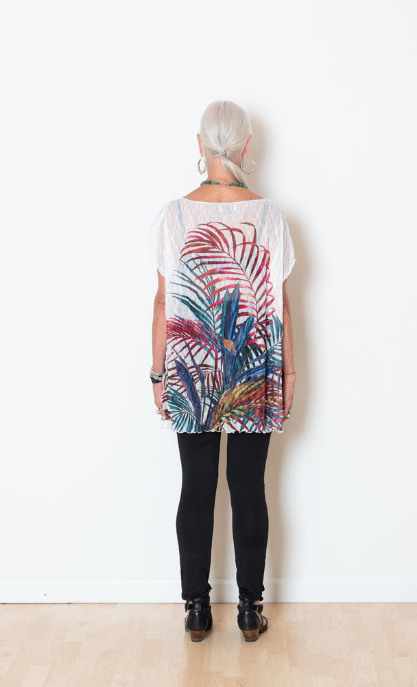 Fern Pattern Poncho/Vest/Top