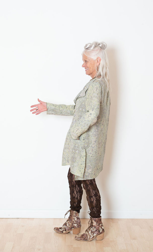 Crossover Paisley Jacket in Cashmere