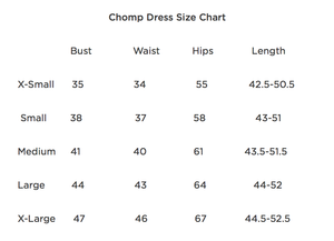 Large Roses Chomp Dress