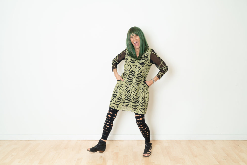 Green Soutache Returning Tunic