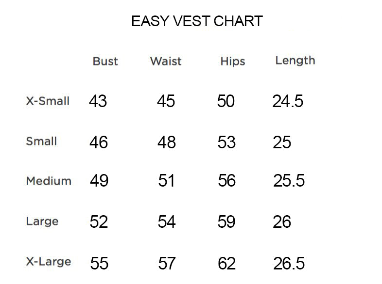Easy Vest Multi Colors