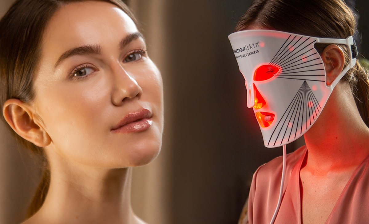 The LED light therapy mask that's loved by celebrities