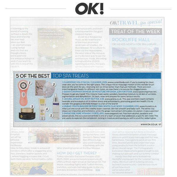 Press Coverage: The Clarisonic Mia 2 in OK!'s Best Spa Treatments