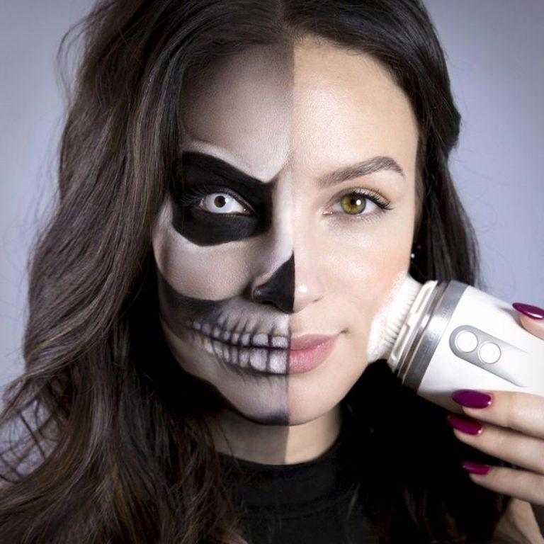 Removing heavy Halloween make-up