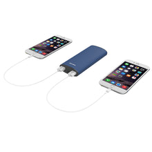 Load image into Gallery viewer, 11000 MAh Dual USB power bank with LED flashlight
