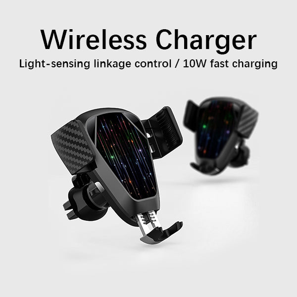 Wireless Car Charger mount Car Mount Wireless Charger 10W Qi Wireless Charger Phone Holder Compatible for iPhone XR /X /8 Samsung Galaxy S9 S8+ S8 S7 S7edge S6 All Qi Devices.
