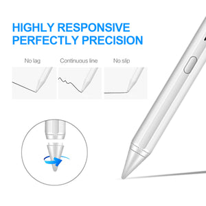 Stylus Pen 2nd Gen with Palm Rejection Active Apple pencil High Precise with Magnetic attraction Writing/Drawing  Compatible with (2018-2020) Apple iPad Pro (11/12.9 Inch),iPad 6th/7th Gen,iPad Mini 5th Gen