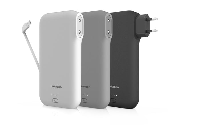 European AC plug-in power bank with charging cable