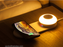 Load image into Gallery viewer, lamp Desktop wireless charger  with home light  Heloideo