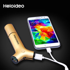 3 in 1 Dual USB Car Charger with 2200 MAh Power Bank car charger 2.1A Heloideo PB016