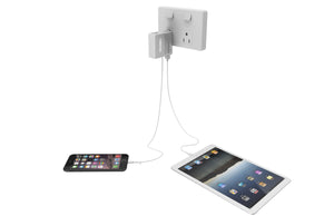 5 IN 1  AC plug power bank with built-in 85cm cable