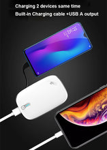 Load image into Gallery viewer, Portable  charger 2 in 1 6000mAh PowerBank with Cables for Samsung, iPhone etc. Heloideo PB002
