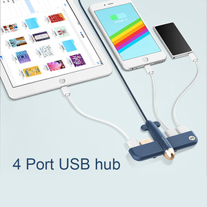4 Port USB Hub with USB 2.0 Data Ports USB HUB with cable gift item promotion gift plane shape