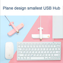 Load image into Gallery viewer, 4 Port USB Hub with USB 2.0 Data Ports USB HUB with cable gift item promotion gift plane shape
