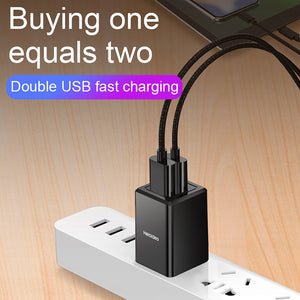 dual usb wall charger heloideo