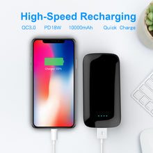 Load image into Gallery viewer, 10W Wireless charger Quick Charge Power Bank 10000mAh,Ultra Slim Power Bank with Quick Charge 3.0,USB-C/Type-C Port,Smart USB Port/Portable Power for iPhone,iPad,iPod,Samsung, Etc(black)