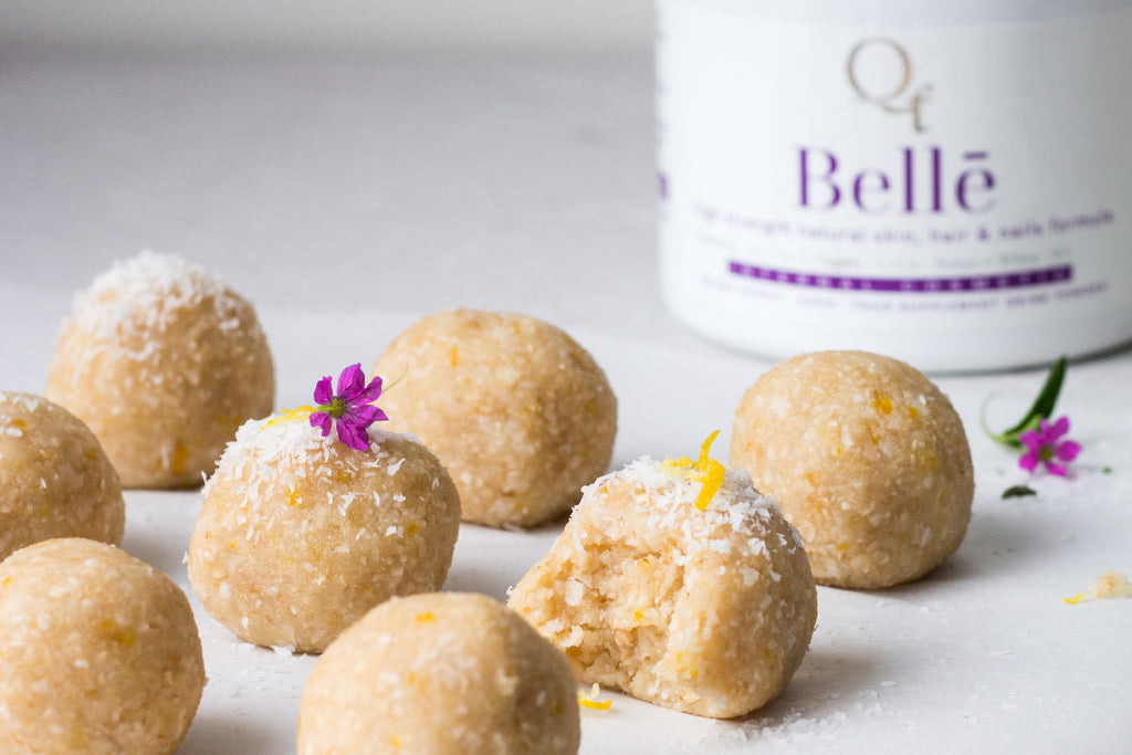 Passionfruit bliss balls