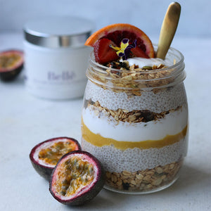 Passionfruit & coconut chia pudding