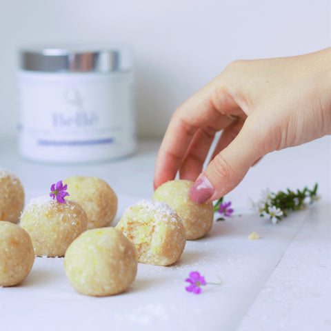 Passionfruit collagen bliss balls