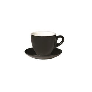 06.BELLY.CAP.BK Incafe Black Belly Cappuccino Cup Globe Importers Adelaide Hospitality Suppliers