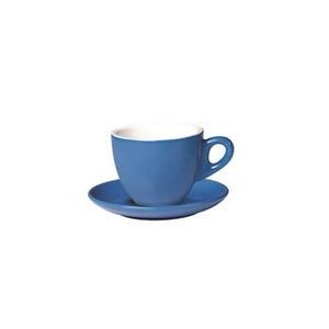 06.BELLY.CAP.BL Incafe Blue Belly Cappuccino Cup Globe Importers Adelaide Hospitality Suppliers