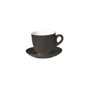 06.BELLY.CAP.MB Incafe Matte Black Belly Cappuccino Cup Globe Importers Adelaide Hospitality Suppliers