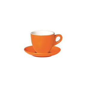 06.BELLY.CAP.OR Incafe Orange Belly Cappuccino Cup Globe Importers Adelaide Hospitality Suppliers