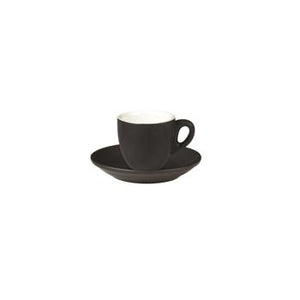06.BELLY.ESP.MB Incafe Matte Black Belly Espresso Cup Globe Importers Adelaide Hospitality Suppliers