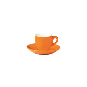 06.BELLY.ESP.OR Incafe Orange Belly Espresso Cup Globe Importers Adelaide Hospitality Suppliers