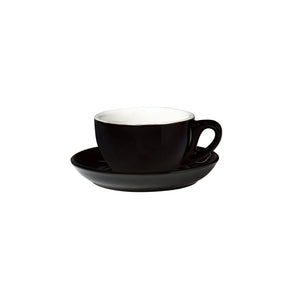 06.CAP.S.BK Incafe Black Cappuccino Saucer Globe Importers Adelaide Hospitality Suppliers