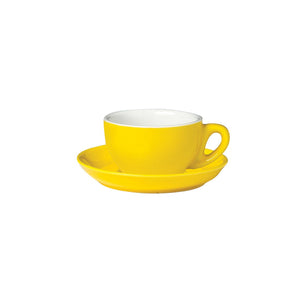 06.CAP.S.YL Incafe Yellow Cappuccino Saucer Globe Importers Adelaide Hospitality Suppliers