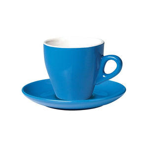 06.CAPTL.S.BL Incafe Blue Tulip Cappuccino Saucer Globe Importers Adelaide Hospitality Suppliers