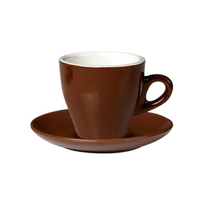 06.CAPTL.S.BR Incafe Brown Tulip Cappuccino Saucer Globe Importers Adelaide Hospitality Suppliers