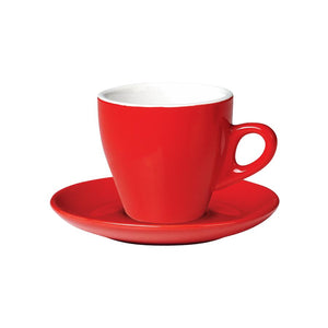 06.CAPTL.S.RD Incafe Red Tulip Cappuccino Saucer Globe Importers Adelaide Hospitality Suppliers