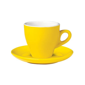 06.CAPTL.S.YL Incafe Yellow Tulip Cappuccino Saucer Globe Importers Adelaide Hospitality Suppliers