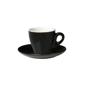 06.ESP.C.BK Incafe Black Espresso Cup Globe Importers Adelaide Hospitality Suppliers