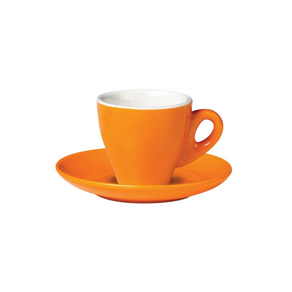06.ESP.C.OR Incafe Orange Espresso Cup Globe Importers Adelaide Hospitality Suppliers