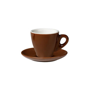 06.ESP.S.BR Incafe Brown Espresso Saucer Globe Importers Adelaide Hospitality Suppliers