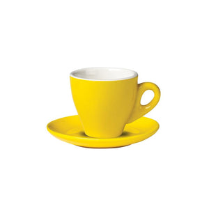 06.ESP.S.YL Incafe Yellow Espresso Saucer Globe Importers Adelaide Hospitality Suppliers