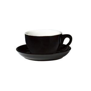 06.S10476.BK Incafe Black Jumbo Cappuccino Saucer Globe Importers Adelaide Hospitality Suppliers