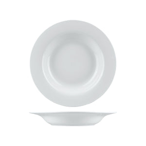 1160 Long Fine Arlington Soup / Pasta Bowl Wide Rim Globe Importers Adelaide Hospitality Supplies