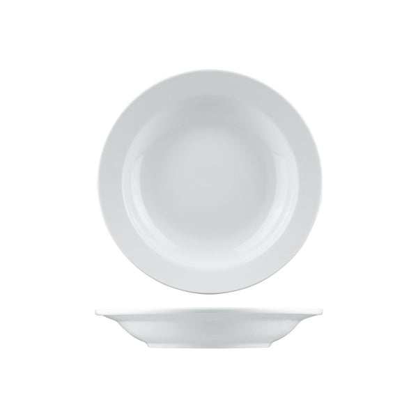 2209 Long Fine Arlington Soup / Pasta Bowl Wide Rim Globe Importers Adelaide Hospitality Supplies