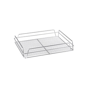 30600-CH Rectangular Glass Basket - Chrome Plated Globe Importers Adelaide Hospitality Supplies