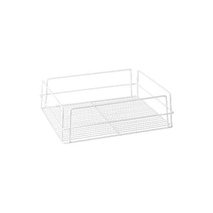 30602 Rectangular Glass Basket - White PVC Coated Globe Importers Adelaide Hospitality Supplies