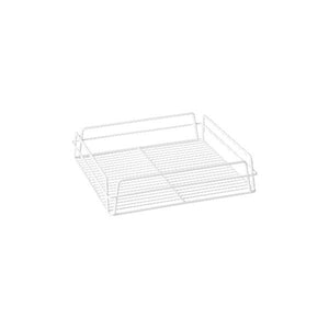 30605 Square Glass Basket - White PVC Coated Globe Importers Adelaide Hospitality Supplies